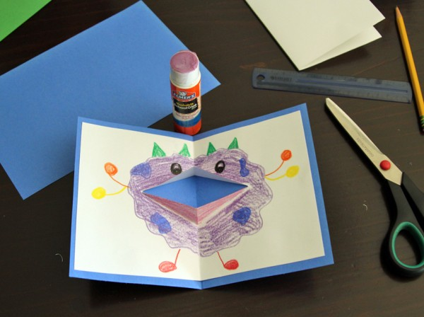 Pop-up monster cards for Dad