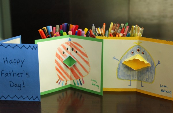 Father's Day cards with pop-up monsters