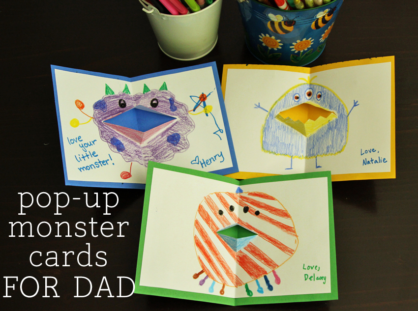Silly Pop Up Monster Cards For Dad Make And Takes