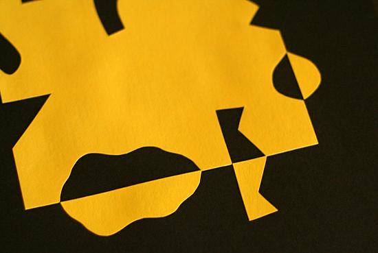 Close-up of positive/negative shapes