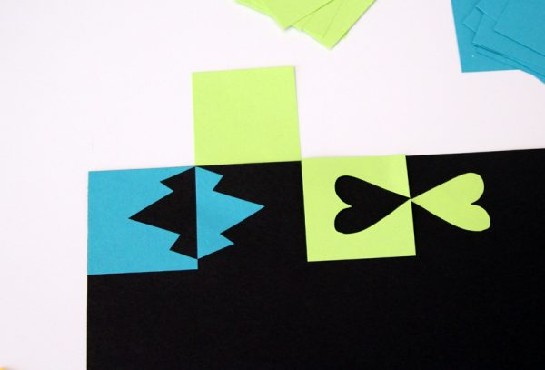 Paper cutting positive and negative shapes