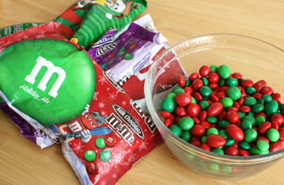 Holiday m&ms