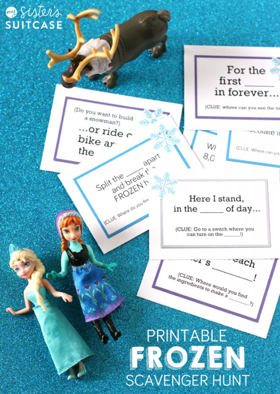 Printable Frozen Movie Scavenger Hunt