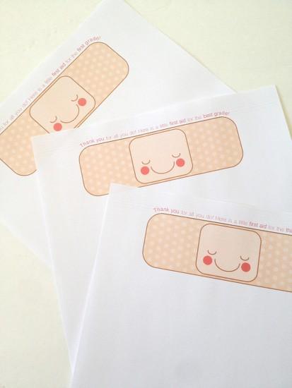 printable teacher tag bandaid
