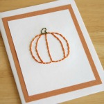 Pumpkin Stitched Greeting Card