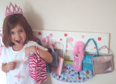 Little Girl Purse Rack