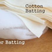 Quilt Batting and Backs