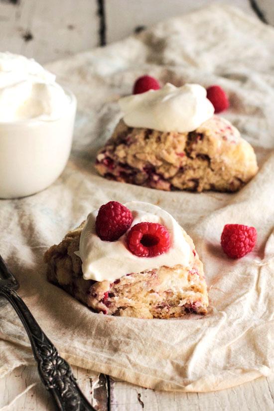Raspberry Cream Cheese Scones
