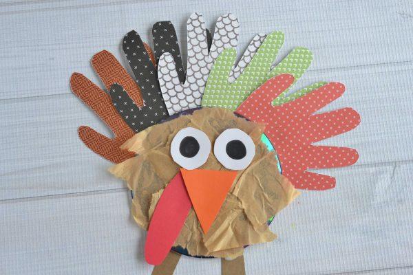 Recycled CD Turkey - Kid Craft