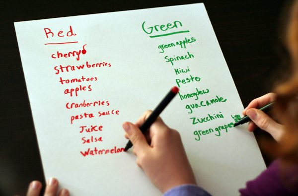 List of red and green foods