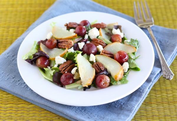 Roasted Pear and Grape Salad