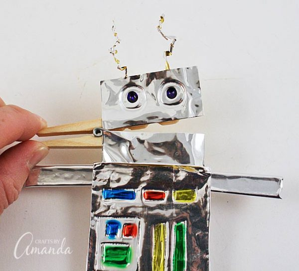 Clothespin Foil Crafts