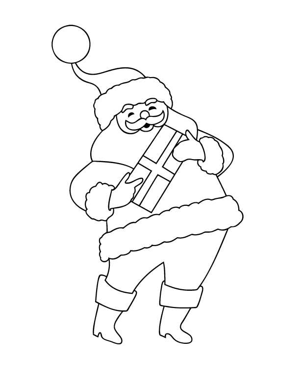 santa coloring page - Holiday Coloring Sheet