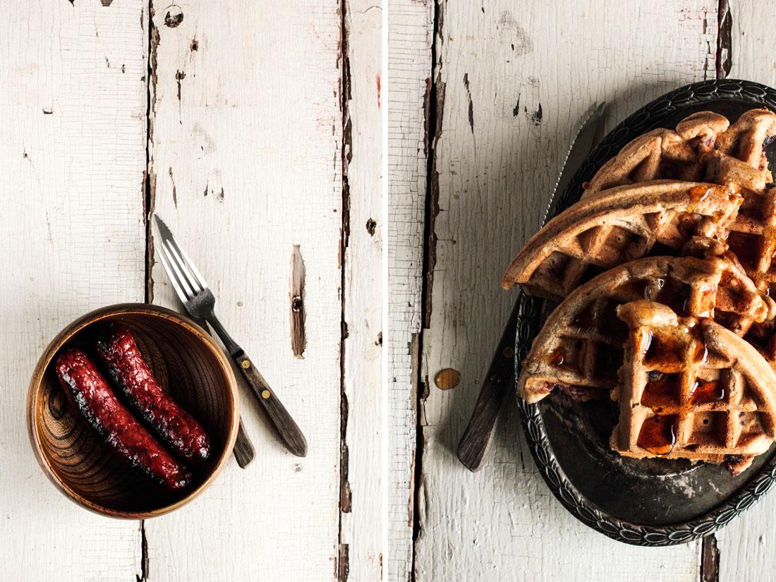 Sausage Waffles for Brunch