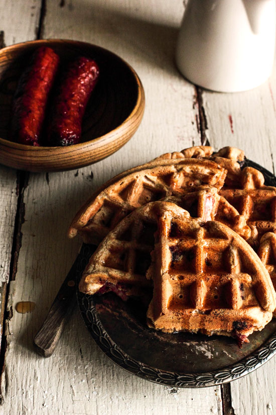 Sausage Waffles for Breakfast