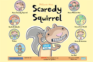 Scaredy Squirrel website