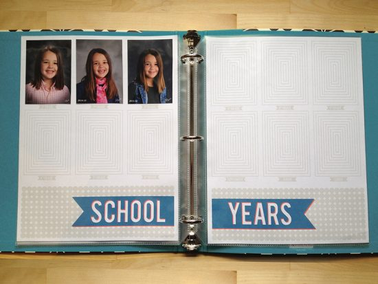 School Pictures Scrapbook Page Printable Make And Takes