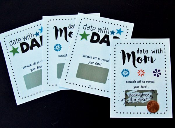 Scratch-off date coupons for parents and kids