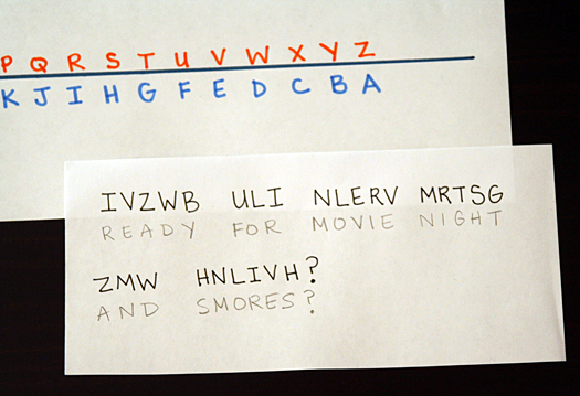 Secret Codes #1: Reverse Alphabet