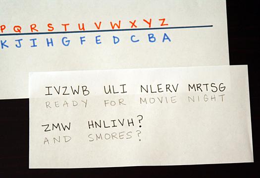 Secret Codes #1: Reverse Alphabet