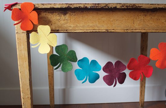 Rainbow Shamrock Garland