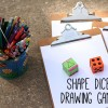 Shape Dice Drawing Game