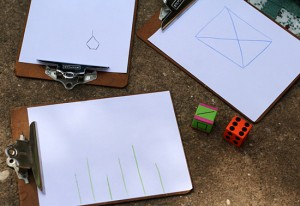 Playing a shape dice drawing game