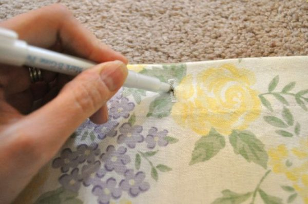 Steps To Make a Shower Curtain From a Bed Sheet 6