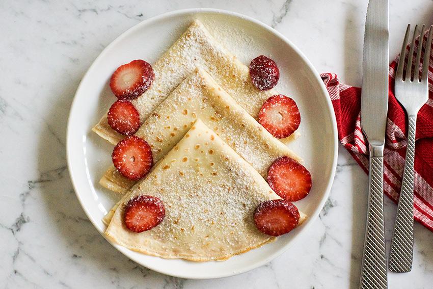 Simple Crepes Recipe Yum