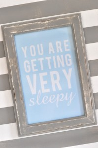 Sleepy baby quote printable free