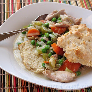 Slow Cooker Creamy Chicken And Biscuits | Make and Takes