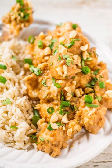 Slow Cooker Chicken Thai Peanut