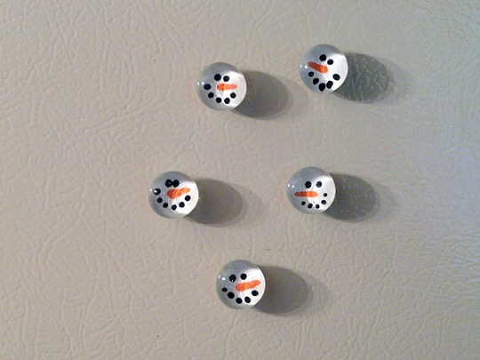 Snowman Magnets finished