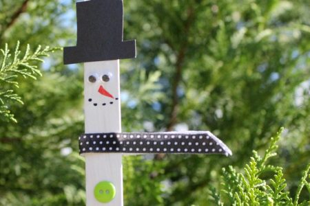 snowman Popsicle stick ornamnet