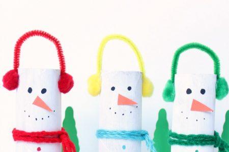 snowman winter craft for kids