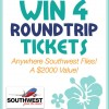 Win 4 Southwest Round Trip Tickets