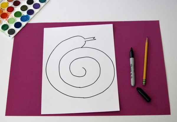 Drawing a spiral snake