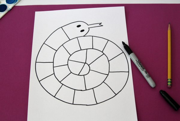 Spiral snake drawing project