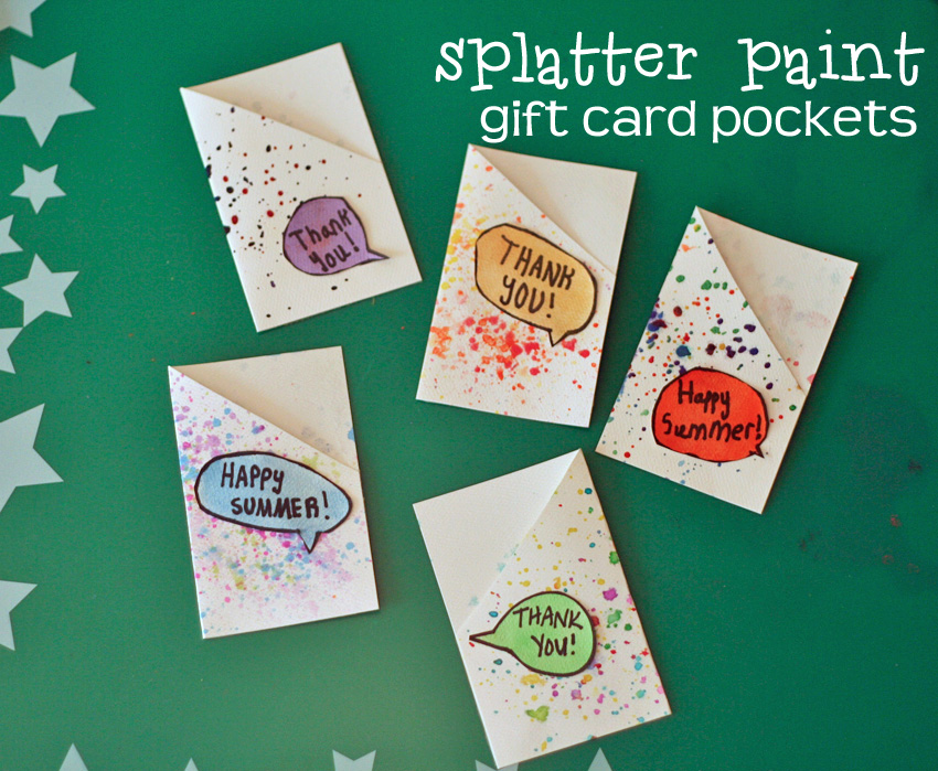 Splatter Paint Gift Card Pockets