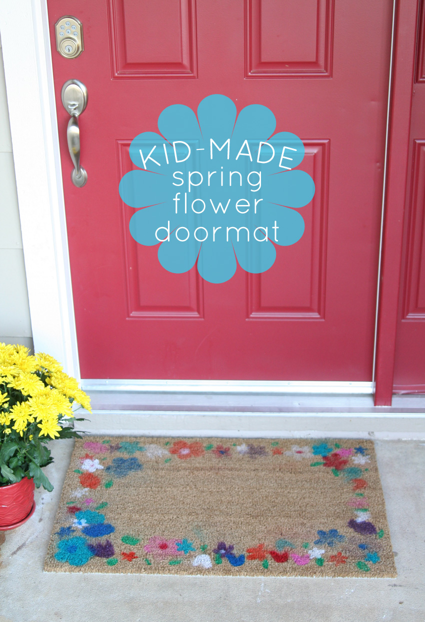 Spring Flower Airbrush Doormat Make And Takes