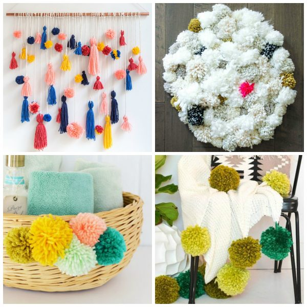 13 Yarn Pom-Poms for Home Decor