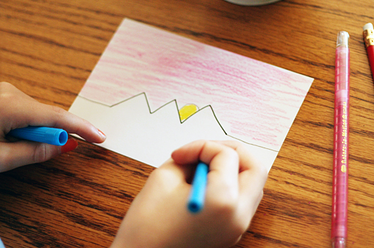 summer camp for kids squiggle drawings  make and takes