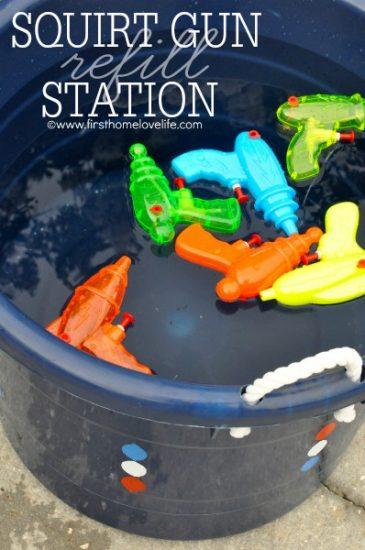 Squirt Gun Refill Station