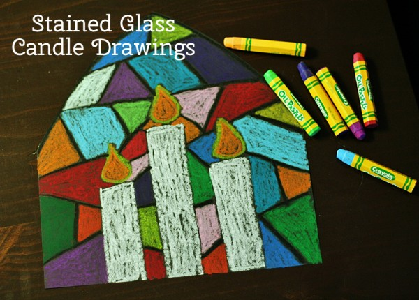 elementary christmas craft ideas colorful stained glass candle drawings make and takes 4395