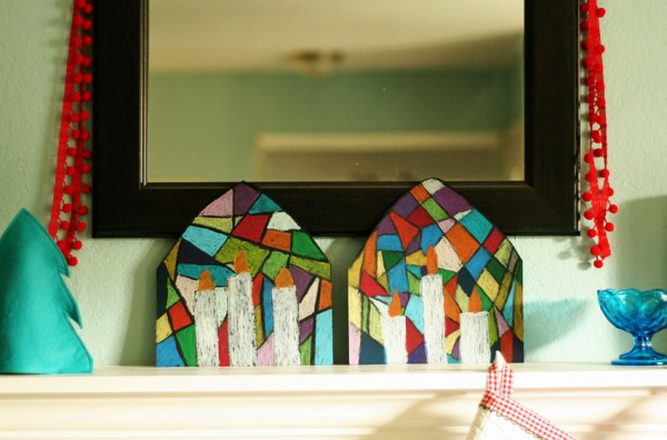 Stained glass candle art project