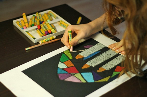 Coloring stained glass pictures