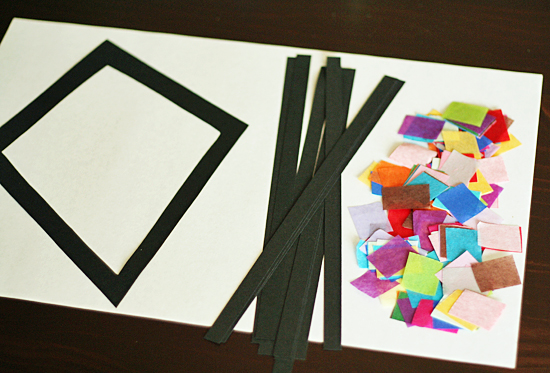Supplies for stained glass kites