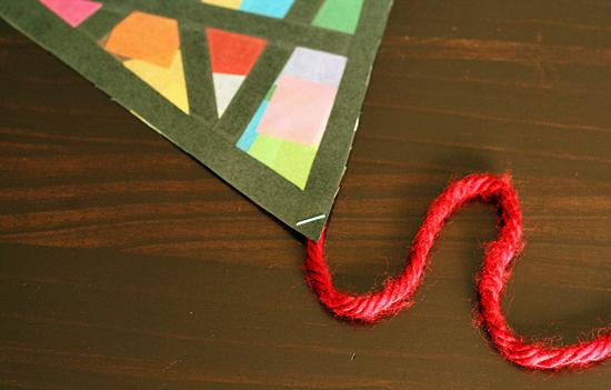 Tissue paper kite craft