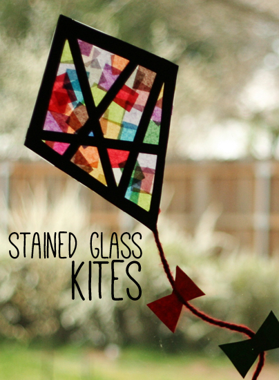 How To Make Colorful Stained Gl Kites