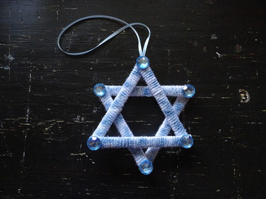 Glittered Craft Stick Star of David